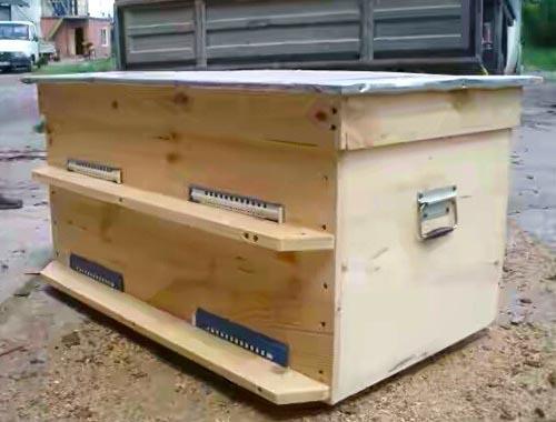Размеры улей-лежак на 20 рамок, изготовленный своими руками